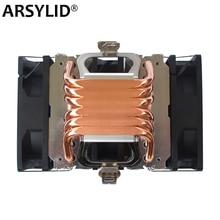X79 X99 CPU kühler 4pin fan 115X 1366 2011 6 heatpipe dual turm kühlung 9cm lüfter unterstützung Intel AMD RGB ARGB fans ryzen