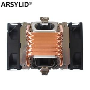 Image 1 - X79 X99 chłodnica procesora 4pin wentylator 115X 1366 2011 6 heatpipe podwójna wieża chłodzenie 9cm wsparcie fanów Intel AMD RGB ARGB wentylatory ryzen