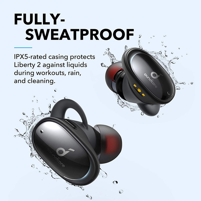 Clearance SaleAnker Wireless Earbuds Liberty Sound Bluetooth-5.0 Hearid 32H Drivers Playtime Diamond-Coated