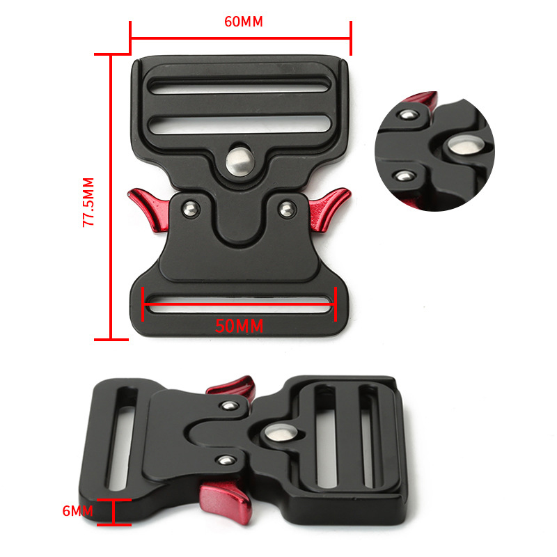 32 to 50mm Tactical Belt Buckle Quick Side Release Buckles For Webbing Safety Strong Hooks Clips Diy Outdoor Luggage Accessories