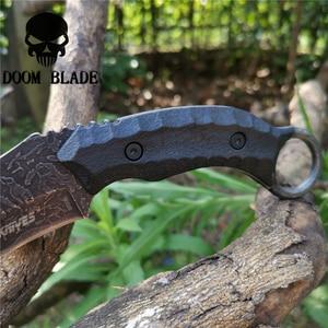 Image 5 - Sabit bıçak bıçak 8CR13MOV çelik bıçak naylon kılıf savaş bıçakları için iyi avcılık kamp Survival açık ve günlük taşıma
