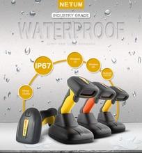 NETUM Waterproof Bluetooth 2D Barcode Scanner Portable 32Bit USB QR Bar Code Reader PDF417 Data Matrix Scan A4 for POS System цена
