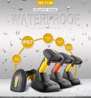 NETUM Waterproof Bluetooth 2D Barcode Scanner Portable 32Bit USB QR Bar Code Reader PDF417 Data Matrix Scan A4 for POS System