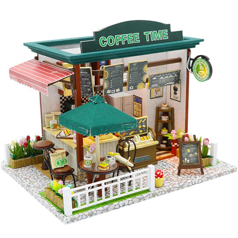 Nhà Búp Bê Mini Diy Nhà Búp Bê Có Nội Thất Bằng Gỗ Cà Phê Thời Gian Shop Đồ Chơi Ngôi Nhà Cho Trẻ Em Bé Gái Sinh Nhật Quà Tặng Giáng Sinh