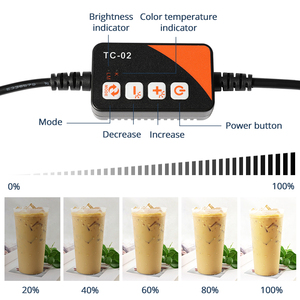 Image 5 - Travor F40A 디 밍이 가능한 접는 사진 상자 40*40 cm LED 라이트 박스 사진 스튜디오 탁상 촬영 사진 상자 5 색 배경