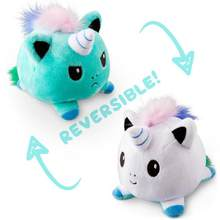 Crianças presente de aniversário engraçado peluche reversível jouet polvo de pelucia reversivel kuscheltier brinquedos petits animaux unicórnio