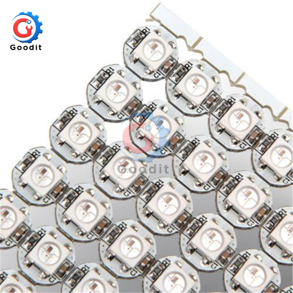 50Pcs DC 5V 3MM X 10MM WS2812B SMD RGB LED Mini PCB Board 5050 Chip Built-in IC-WS2812 Top Quality Full Color Soft Lights A Lamp Strip Indoor/outdoor LED Video Irregular Screen