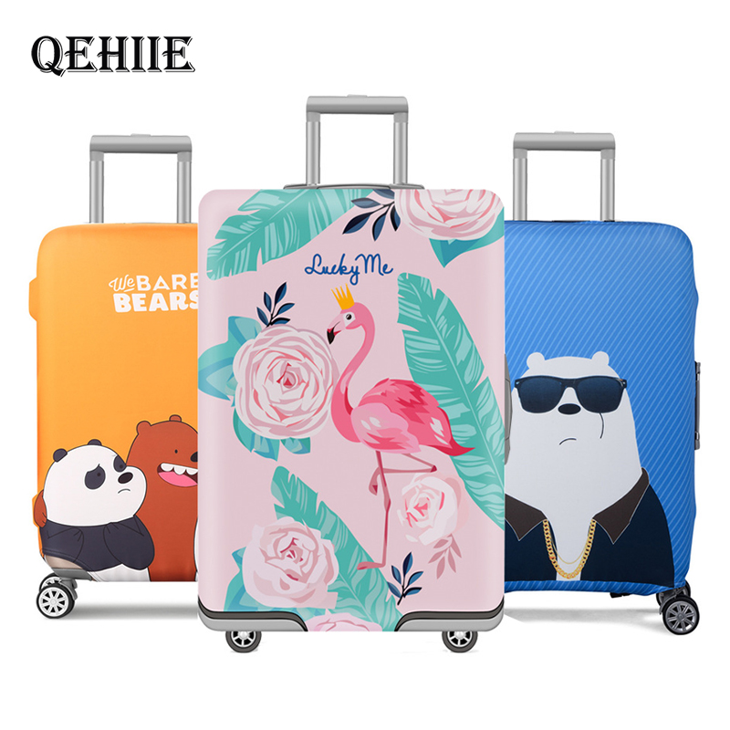 Travel Accessories Thicker Luggage Cover Cartoon Bear Rabbit Suitcase  Elastic Luggage Protectiver Cover For 18-32 Inch Suitcase