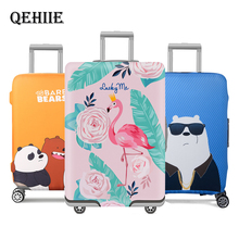 Купить с кэшбэком Travel Accessories Thicker Luggage Cover Cartoon Bear Rabbit Suitcase  Elastic Luggage Protectiver Cover For 18-32 Inch Suitcase