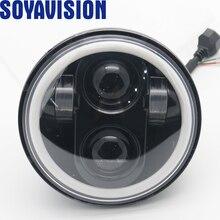 """5 3/4 """"5.75 calowy motocykl Moto projektor LED pełny Halo reflektor dla 5.75 cala motocykl"""
