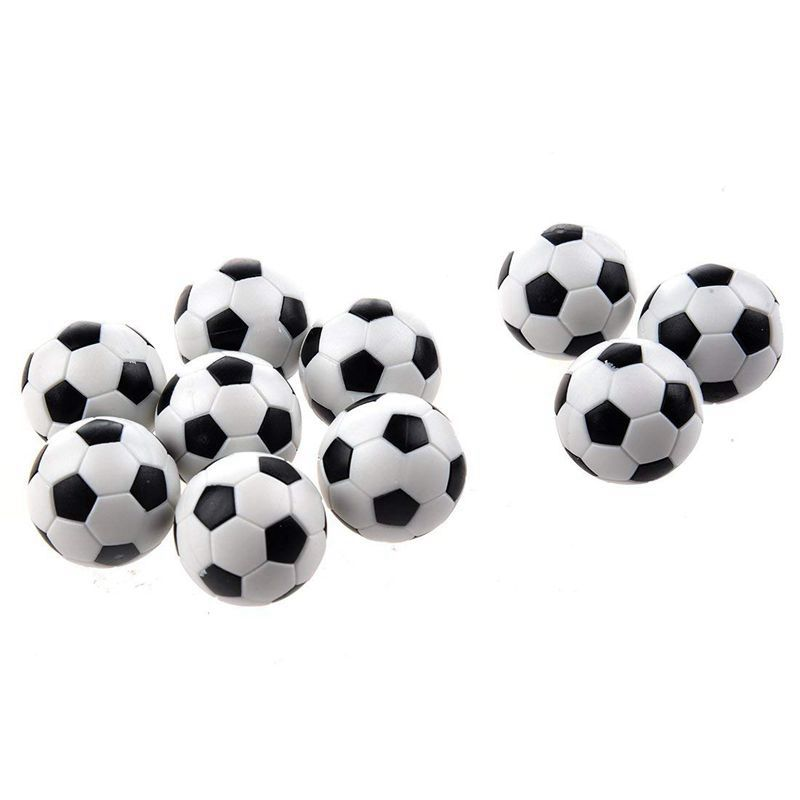 6PCS Small Football Style Table Ball Foosball Hard Plastic Table Ball Counterpart Game Children Toy
