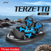 Genuine authorized JJRC H36F remote drone toy UFO speed boat hovercraft sea and air three in one model LED lights one click roll