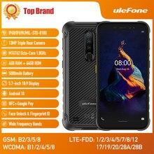 Ulefone armor x8 android10 5080mah telefone celular impermeável áspero 4gb 64gb ip68 octa-core nfc de 5.7 polegadas