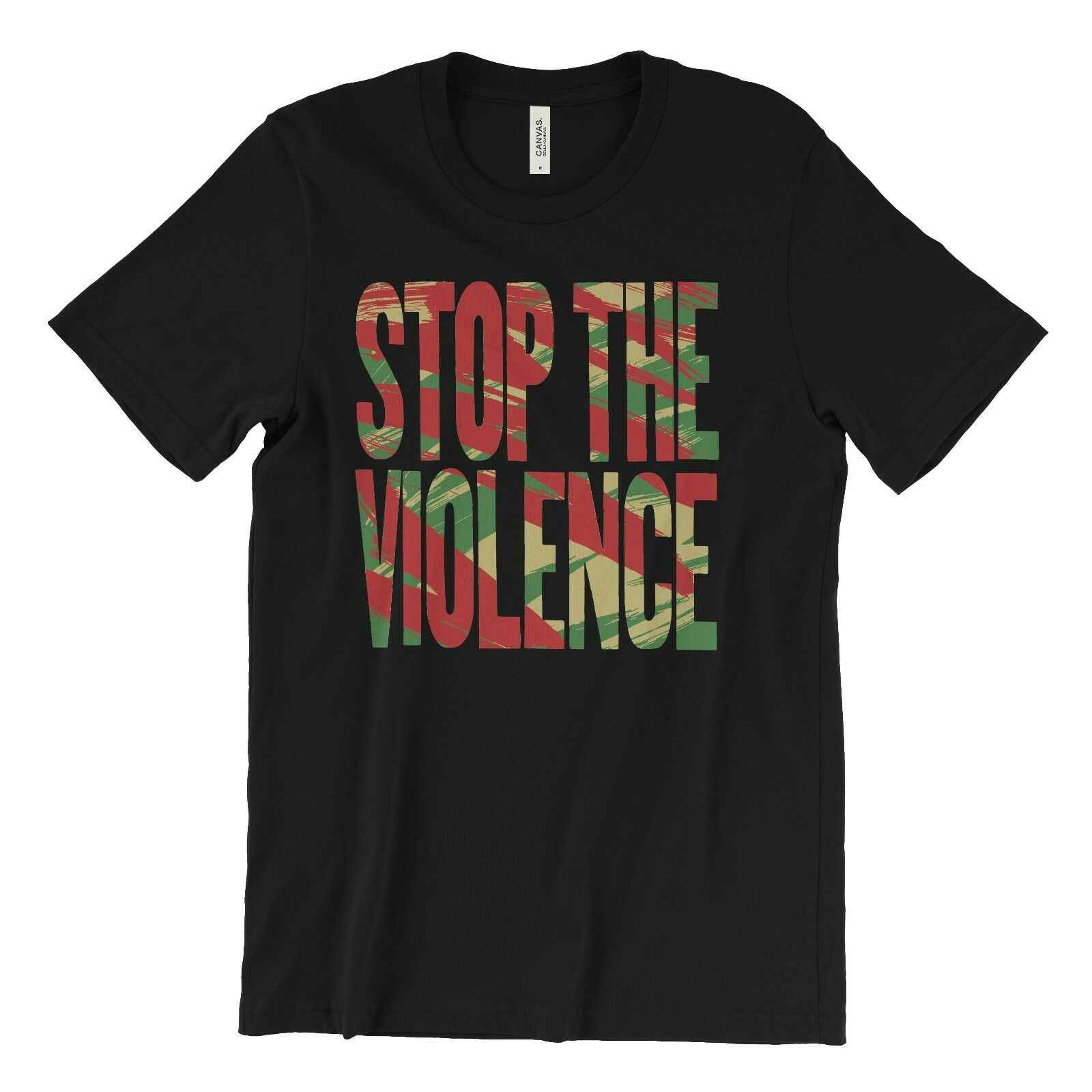 Fermare La Violenza T-Shirt-BDP-Boogie Imbottiture Productions-KRS One Hip Hop di NEW YORK