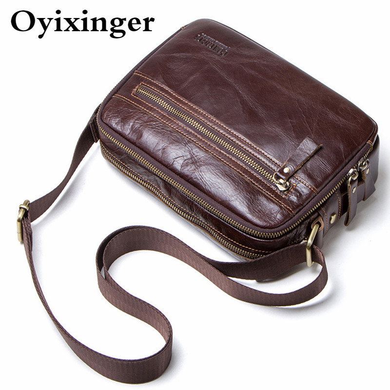 Small Men's Briefcase Genuine Leather Messenger Bag For 7.9 Inch Ipad Man Shoulder Bags For Credit Card Men Bags Bolsa Masculina