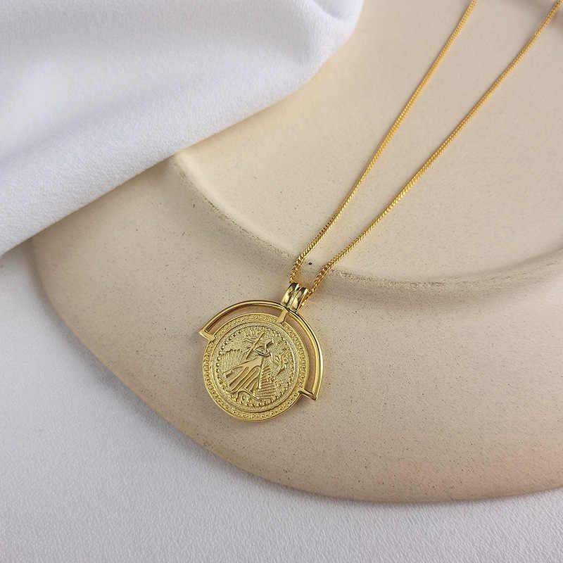 Đồng tiền Cổ Nữ Bạc 925 Đầu Vàng Đồng Mặt Dây Chuyền Dây Chuyền Vòng Cổ Cho Bé Gái Nữ Bạc 925 Trang Sức Quà Tặng Sinh Nhật DS1568