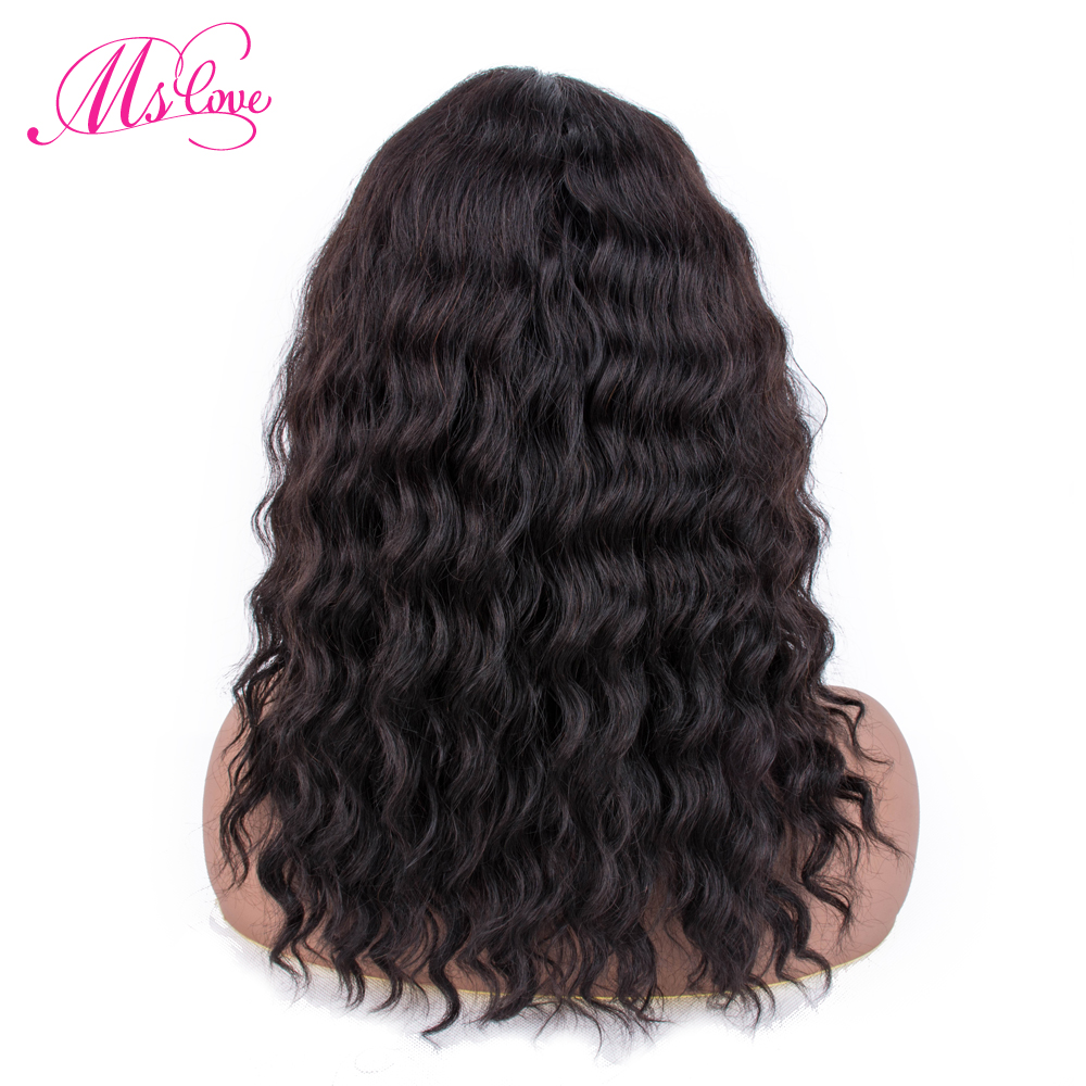 Perruque de cheveux humains bouclés perruque brésilienne Remy cheveux Mslove 14 pouces perruque de cheveux humains bouclés avant de lacet perruques de cheveux humains pour les femmes noires - 3