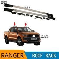 Roof Rails Rack Carrier Bars For Ford Ranger WILDTRACK 2012 2013 2014 2015 2016 2017 2018 2019 T6 T7 Double Cabin