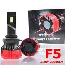F5 LED Scheinwerfer Birne Nebel Licht H4 H10 Auto LED Scheinwerfer 110W 20000LM H7 H11 PSX26W 9005 9012 H1 led-lampen LED H7 scheinwerfer