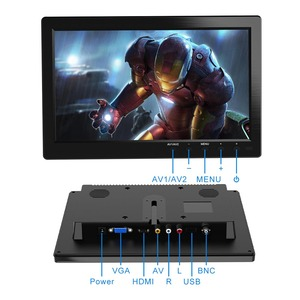 """Image 4 - FSU Portable Display Monitor 1024*600 LCD Monitor Full View HDMI VGA AV Industrial Capacitive 10.1"""" Car Rear View Monitor"""
