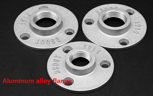 """Image 3 - 10pc Thread BSP Malleable Iron Pipe Fittings Wall Mount Floor Antique 1/2"""",3/4"""" Flange Piece Hardware Tool  Iron casting Flanges"""