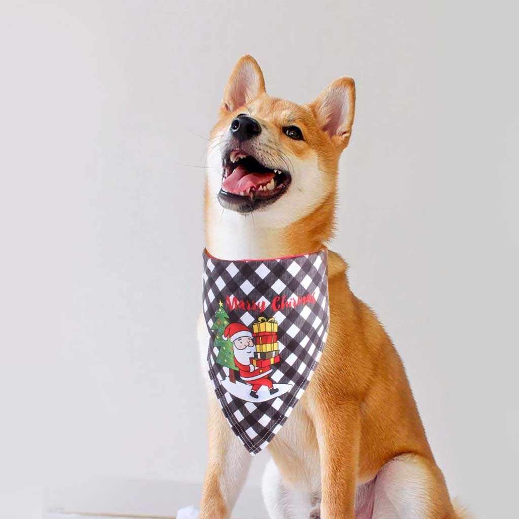 Verano y Navidad perro gato Bandanas bufanda ajustable niños/perros bebés gatos Baberos triangulares pajaritas accesorios de aseo para mascotas 2020