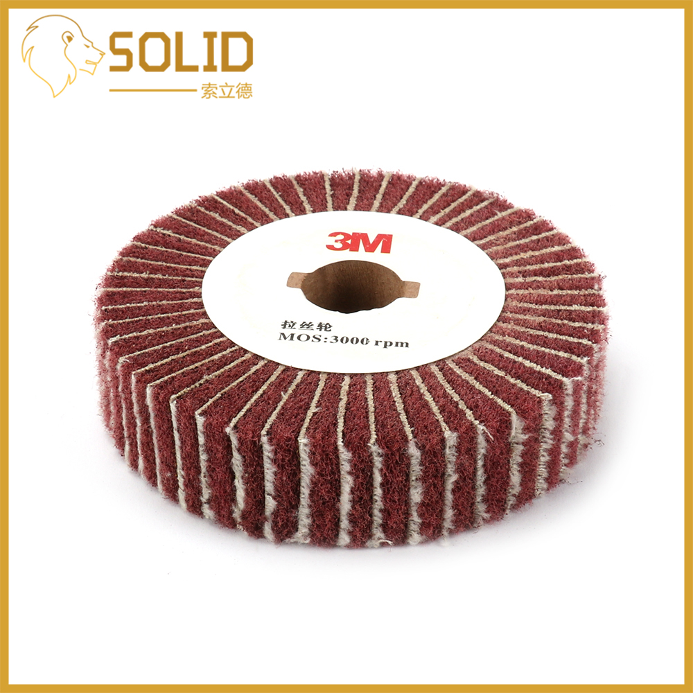 Abrasive Grinding Flap Wheel Non-woven Flap Grinding Disc Bore 20mm For Metal Polish Scouring Pad Red Thickness 25mm