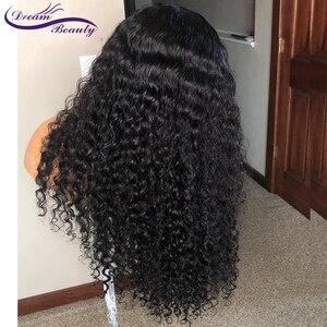 Кудрявые 13X6 кружевные передние человеческие волосы парики с детскими волосами бразильские волосы Remy кудрявые парики для женщин предварите...