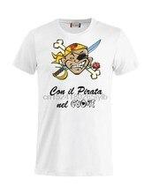 Camiseta personalizzata il pirata nel cuore marco pantani fan