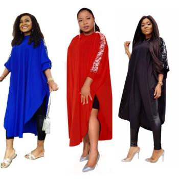 2019 Dashiki African Dresses For Women Summer Plus Size Dress Ladies Sequins Blue Red Traditional Clothing Fairy