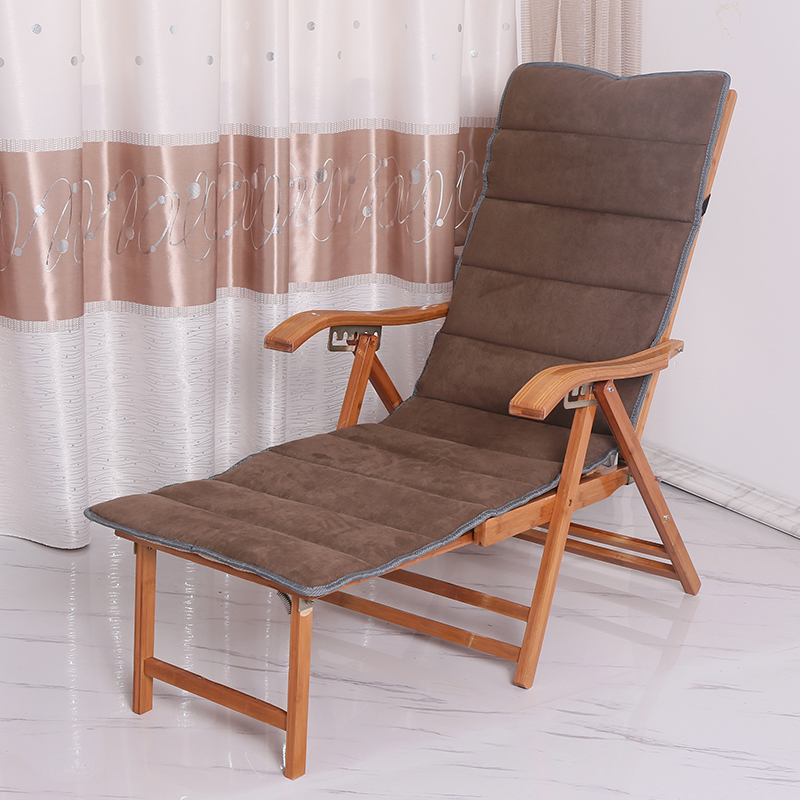 Lounge Chair Balcony Home Old Man Back Bamboo Chair Summer Cane Chair Leisure Single Nap Recliner Folding Lunch Break Recliner