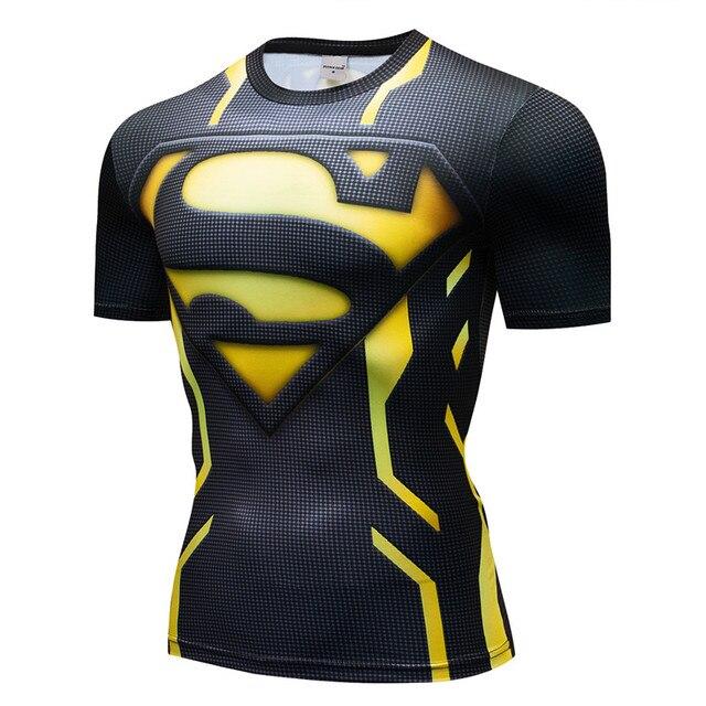 Мужская компрессионная 3D футболка Supermen 2