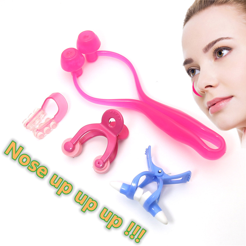 Magic Nose Shaping Shaper Lifting Bridge Straightening Face Lift Nose Up Clip Facial Clipper Beauty Tool BULE+RED