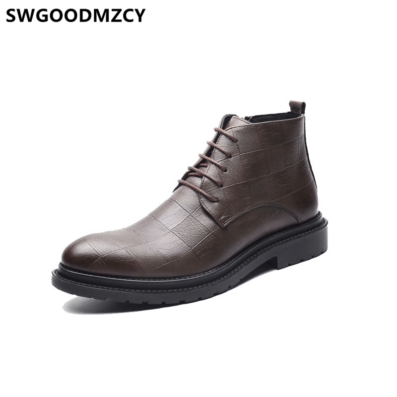 Boots Italian Shoes Leather Men