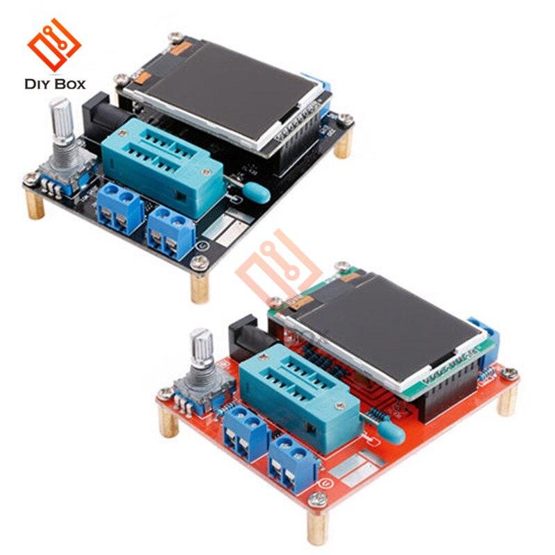 Mega328 Completo Assemblato Transistor Tester Lcr Diodo Generatore di Segnale di Frequenza Delle Onde di Capacità Esr Meter Pwm Inglese Russo