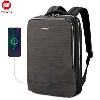 Tigernu 2019 New Business Backpack 15.6 inch Laptop Men Backpack Waterproof with USB Charging Headphone Male Bag Bagpack Mochila - DISCOUNT ITEM  63% OFF All Category