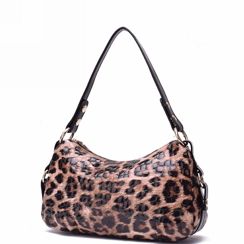 Cowhide Fashion Shoulder Bags Luxury Genuine Leather Women Bag\Handbag Leopard Pattern Printed Female Tote Ladies' Crossbody Bag