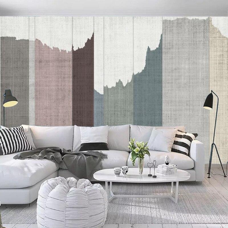 Nordic Wood Grain Wall Cloth Simple Wall Covering Fabric TV Backdrop Art Wallpaper Living Room Sofa Wallpaper Bedroom Mural