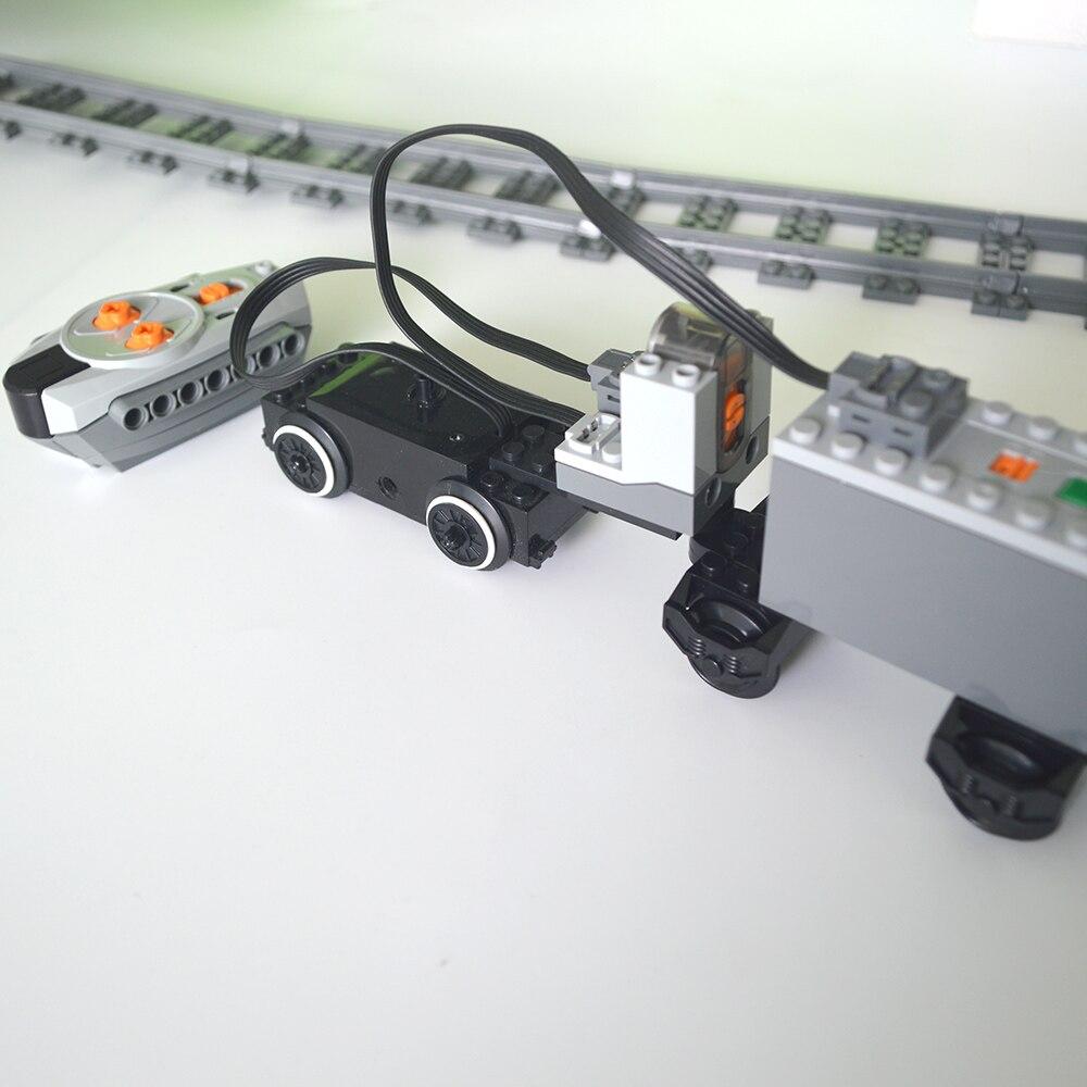 Train Motor Technic Parts Compatible For LegoINGlys Multi Power Functions Tool Servo Blocks Train Base PF Sets