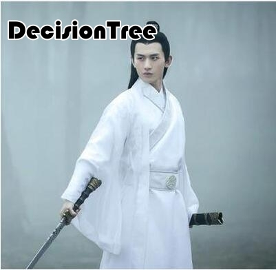 2020 Men's Hanfu Costume Cosplay Clothes Chinese Traditional Dance Clothing Boy Male Chinese Ancient Robe Dance Folk Cos
