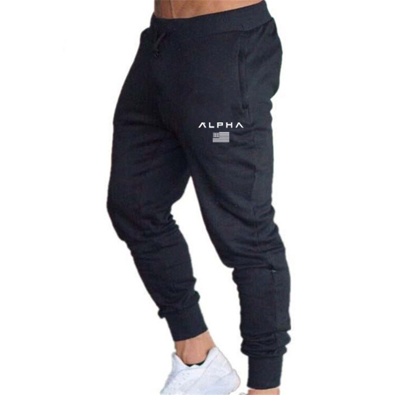 New alpha brand running jogging pants men's sportswear pants tight pants men's sportswear pants fitness pants harajuku Package