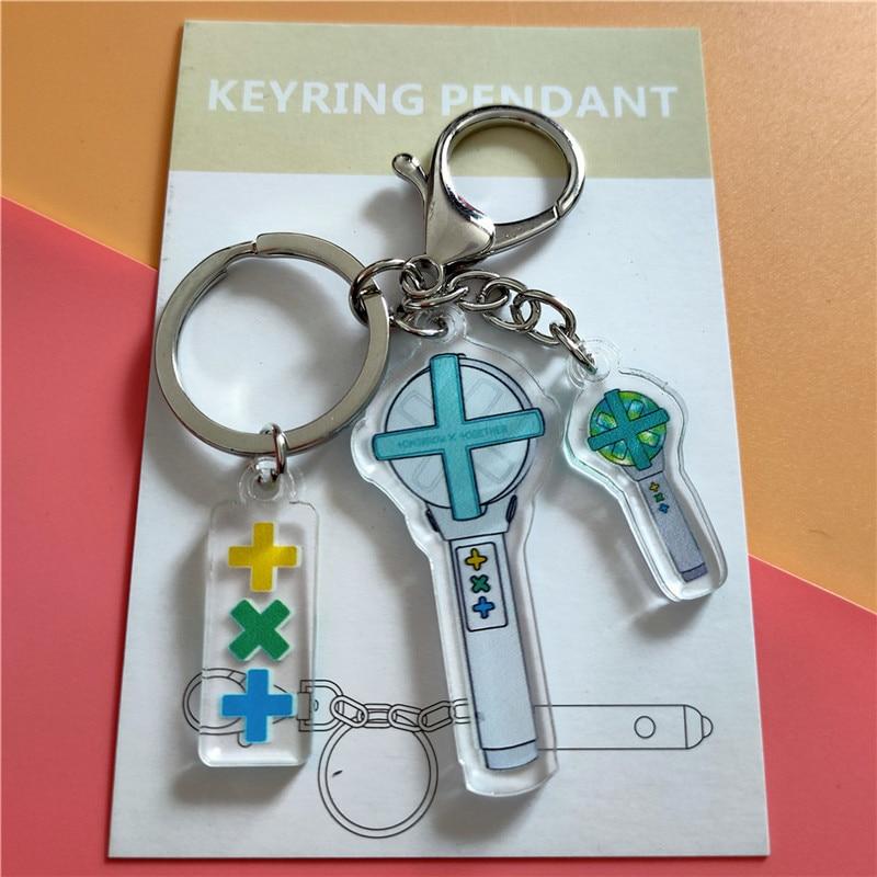 Акриловая цепочка для ключей kpop TXT, подвесной светильник с подвеской в виде ручки, волшебные веера, Коллекция сумок jh402