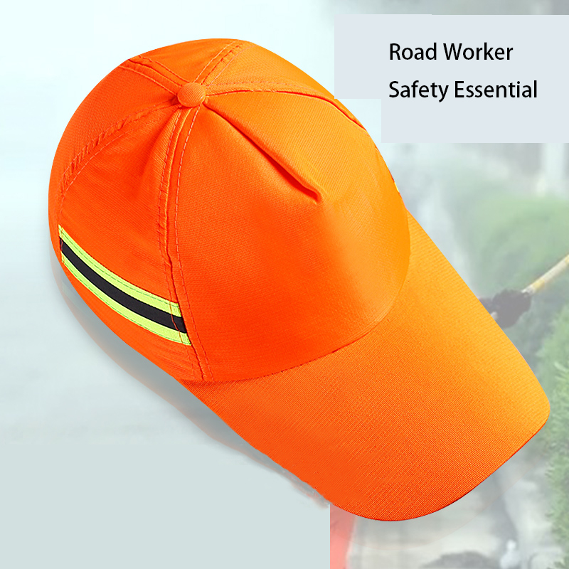 Reflective Hats For Sanitation Workers Outdoor Sun-Shading Sunscreen Work Hats Sleaning Dustproof Cleaners Labor Insurance
