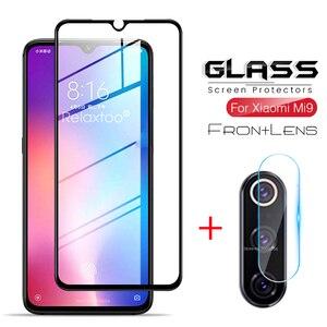 2-in-1 protective glass for xiaomi mi 9 lite glass camera lens film screen protector on xiomi xaomi xiami mi9 se light 9se 9lite(China)