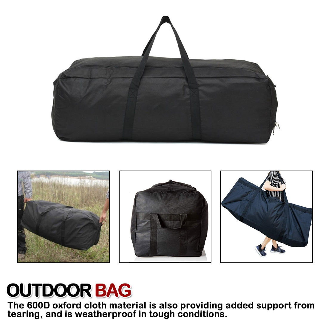 Oxford Foldable Luggage Handbag Outdoor Camping Travel Large Duffle Bags Waterproof Men Backpack Storage Pouch Tote 55/100/150L