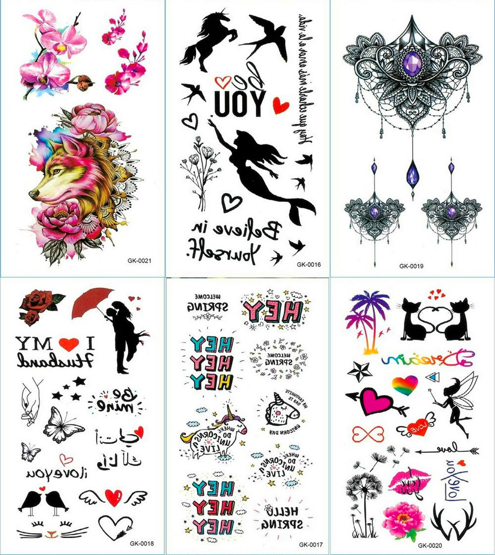 Text Quotes And Hearts Temporary Tattoo Sticker Mandala Tattoos Cartoon And Unicorn Body Art Arm Waterproof Fake Tatoo Aliexpress