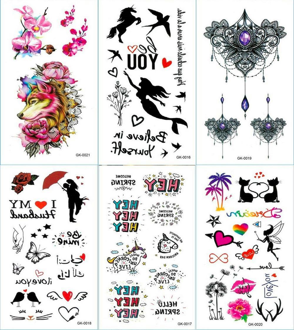 Text Quotes And Hearts Temporary Tattoo Sticker Mandala Tattoos Cartoon And Unicorn Body Art Arm Waterproof Fake Tatoo