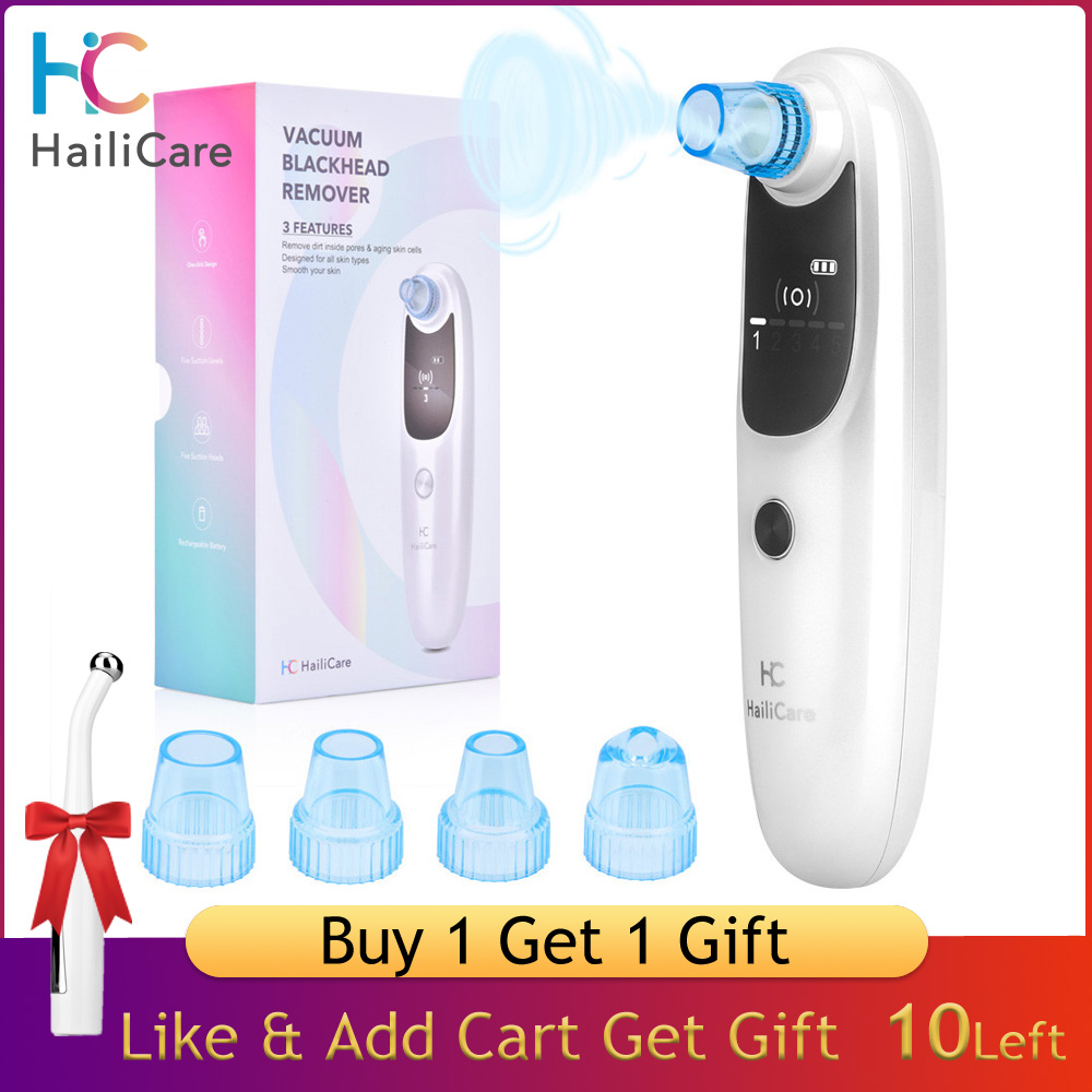 HailiCare Blackhead Remover Vacuum Suction Pore Cleanser Pimple Acne Removal Machine Blackhead Extractor Skin Care Tools