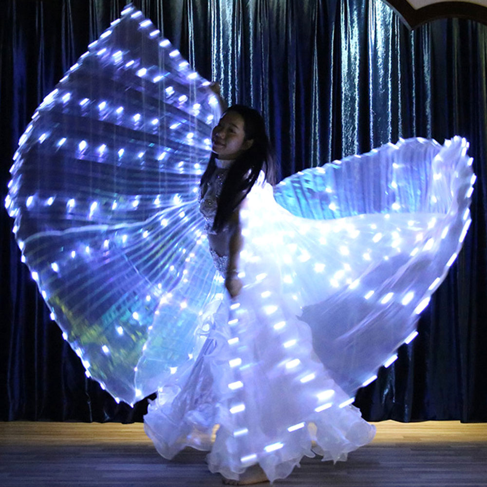 Angel Wings Butterfly Costume Light Women LED Fairy Butterfly Costumes Oriental Bellydance Dancing Accessory Cosplay Accessory