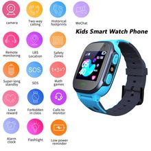 Smartwatch dla dzieci dzieci SOS LBS zegarki Smartwatch Smartwatch dla chłopców dziewcząt wsparcie 2G karta Sim zadzwoń zdjęcie wodoodporne prezenty dla dzieci tanie tanio AUKUK CN (pochodzenie) Android Ubieralny Zgodna ze wszystkimi 128 MB Przypomnienie o połączeniu Odbieranie połączeń